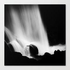Black and white waterfall Canvas Print by kostaspavlis Fine Art Prints, Canvas Prints, Latest Generation, Waterfall, Black And White, Artist, Outdoor, Outdoors, Photo Canvas Prints