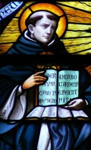 Devil's Delusion book review Thomas_Aquinas_in_Stained_Glass