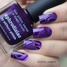 25 Water marble nails art designs
