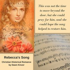 Rebecca's Song (The Daughters of Riverton, Book 3) is now available on Amazon (e-book and paperback) and in paperback on other online sites! This Christian Historical Romance can be read as a stand-alone. Discussion questions included.  Amazon - Kindle, Kindle Unlimited, and Paperback