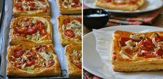 Brie, fennel and tomato tarts