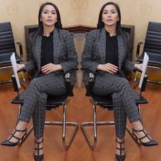 Monday Work Wear | @marieltpadilla in a Jot Losa pantsuit. #PowerDressing #DressForSuccess #LadyBoss #WearToWork