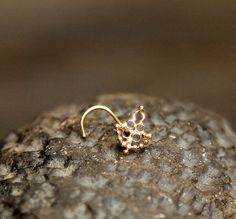 22G REAL GENIUNE SOLID 9K YELLOW GOLD 1.5MM PINK CZ DIAMONTE BALL END NOSE STUD