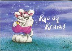 Springmusen Diddl Postcard, Kys og Kram, 1105-043 Muse, Smurfs, Disney Characters, Fictional Characters, Disney Princess, Art, Art Background, Kunst, Performing Arts