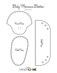 baby moccasin pattern free - Google Search:
