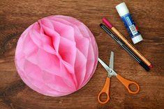 Petit Coleoptere: DIY papierowa kula jak plaster miodu