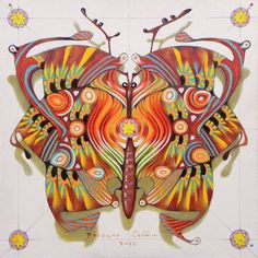 tribal butterfly by Federico Cortese on ARTwanted