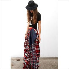 Cutting Edge Plaid Skirt. A combination of Flannel and Wool! ♥️