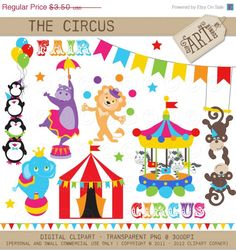 30% OFF Digital Clipart - The Circus Fair (DC-0088) - Instant Download. $2.45, via Etsy.