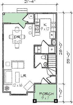 Best 14X16 Studio Floor Plan Small House Plans Pinterest 400 x 300