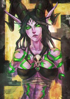 Demon Hunter Doodle by MonoriRogue.deviantart.com on @DeviantArt world of warcraft #wow #fantasy