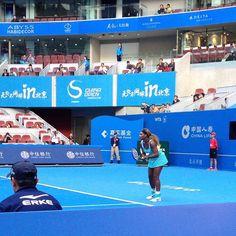 Caught Serena's first match courtside...amazing! #chinaopen #beijing #philthompsonworldtour