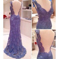 2016 marinha laço azul Prom vestidos com V profundo decote Appliqued vestido Formal para a festa até o chão longas sereia vestidos de baile