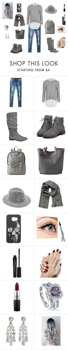 """""""Untitled #207"""" by knight-lover ❤ liked on Polyvore featuring Topshop, maurices, Candie's, Independent Reign, Jack & Jones, Luminess Air, Smashbox, MAC Cosmetics and BERRICLE"""