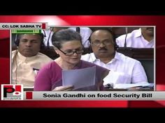 "While speaking in the Lok Sabha, a determined and confident Sonia Gandhi asserted, ""Some people ask whether we have enough resources to successfully implement this bill."