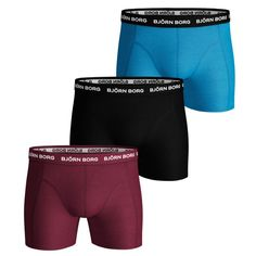 Bjorn Borg Mens Corsair Solid 2 Pack Cotton Stretch Briefs Boxers Shorts