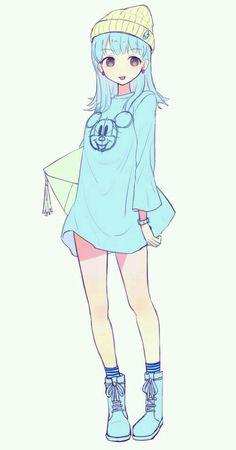 47 New Ideas clothes anime girl illustrations Manga Anime, Manga Girl, Anime Art, Anime Girls, Chibi, Anime Lindo, Poses References, Estilo Anime, Ecchi
