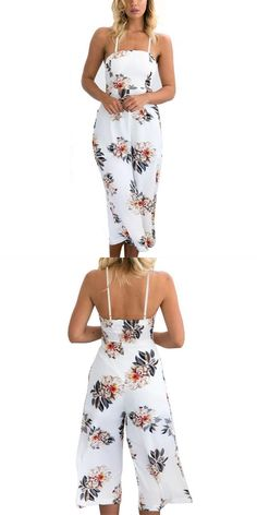 73a7d922422 Floral printed jumpsuits for women 2018 sleeveless party casual rompers  womens jumpsuit sexy bodysuit s8717 dropship
