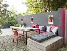 banc d'extérieur de jardin, banc de jardin pour le cour de la maison