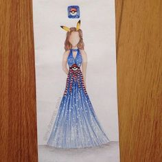 Pokémon Go dress! wow this game became so popular I don't have it tho I was to lazy to go to the store to buy paper so I just drew on an envelope comment what you think! and tag someone who plays
