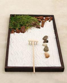 Desk Zen Garden, Zen Sand Garden, Mini Zen Garden, Zen Garden Design, Japanese Garden Design, Rocks Garden, Miniature Zen Garden, Meditation Corner, Meditation Garden