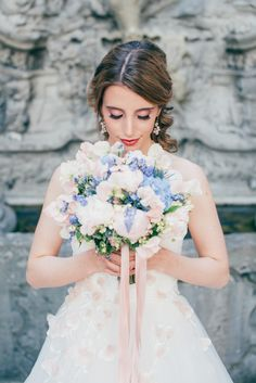 Girls Dresses, Flower Girl Dresses, Serenity, Wedding Inspiration, Bridal, Wedding Dresses, Blue, Beauty, Fashion