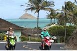 $30 for a half day scooter rental, $35 for a full day. What a great way tot see the Hawaiian coast!