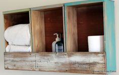 3 vanity drawers and a pallet board... love this for the girls bathroom!  Or rooms