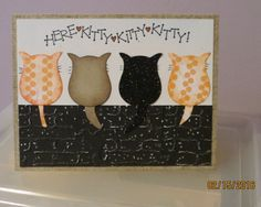 dw Kitties Birthday by deb_loves_stamping - Cards and Paper Crafts at Splitcoaststampers Scrapbooking, Scrapbook Cards, Scrapbook Albums, Cat Cards, Kids Cards, Cricut Cards, Stampin Up Cards, Owl Punch Cards, Owl Card