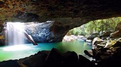 The Natural Bridge, Gold Coast Hinterland, QLD One and a half months until I'm HERE Gold Coast Australia, Queensland Australia, Australia Travel, Western Australia, Places To Travel, Places To See, Places Around The World, Around The Worlds, Australian Continent