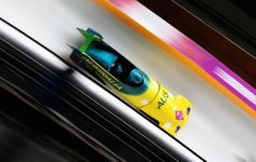Astrid Radjenovic and Jana Pittman of Australia team 1 make a run during the Women's Bobsleigh heats (c) Getty Images Bobsleigh, Olympics, Sports, Action, Ice, Australia, Play, Hs Sports, Sport
