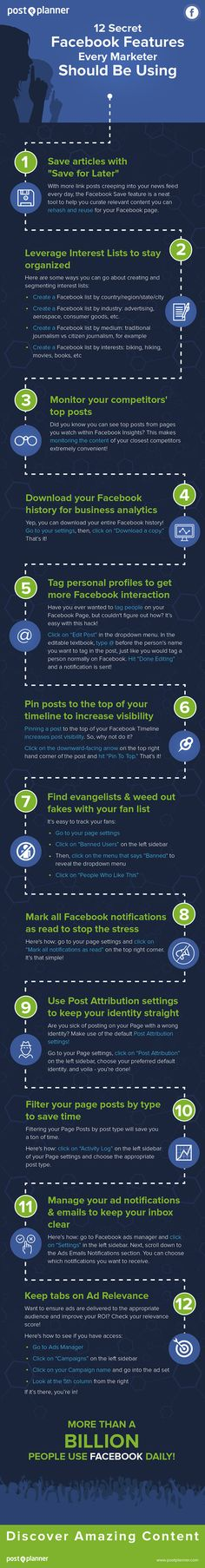 A great list of Facebook tips for marketers from @pamdyer1. Check it out to make sure you're up to date with the latest secrets!