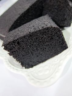 Steamed Black Glutinous Rice Cake