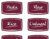Custom Food Packaging Labels - Printable and Adhesive