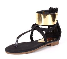Fashion Cute Golden Braid Style Kids Flats Girls Gladiator T-strap Summer Sandals Casual Youth Shoes New Without Box *** For more information, visit now : Girls sandals