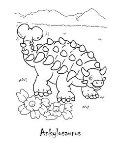1000 images about coloring pages dinosaurs on Pinterest