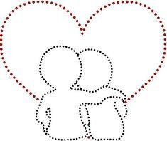 embroidery on cards - Fadenbilder - Linda Arnold String Art Diy, String Crafts, String Art Templates, String Art Patterns, Diy Valentine's Art, Arte Linear, Embroidery Cards, Embroidery Patterns, Valentines Art