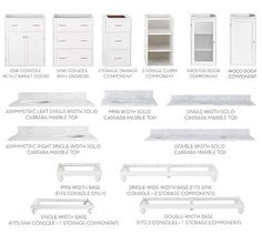 Build Your Own - Custom Classic Sink Console Modular Components #potterybarn