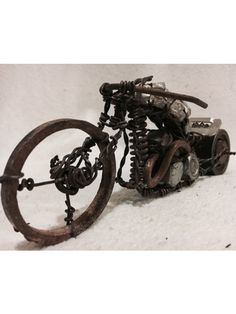 Handmade Custom Wire Motorcycle Chopper Style