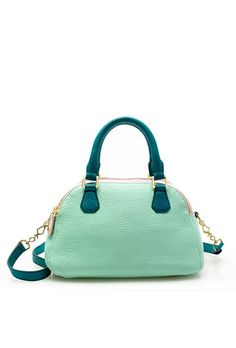 Biennial Tricolore medium satchel - Just love the mint green! Spring Bags, Italian Leather Shoes, Stylish Handbags, Tote Handbags, Mint Green, Purses And Bags, J Crew, Shoe Bag, My Style