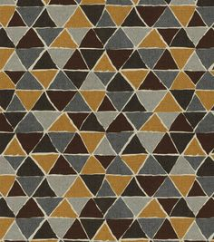 Home Decor Print Fabric-Robert Allen Mixed Modern-Truffle