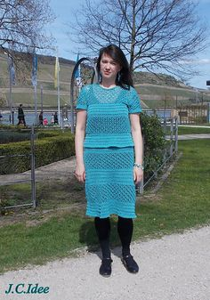 Ravelry: JurateC's Two piece dress in petrol blue