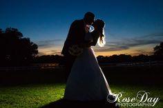 Love this silhouette shot. #wedding #sunset #couple #kisses #Florida #GrandOaksResort