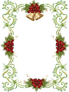 K--4--#35, Christmas Gold PNG Photo Frame with Christmas Bells
