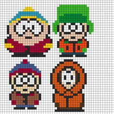 South Park Perler Bead Pattern | Bead Sprites | Characters Fuse Bead Patterns