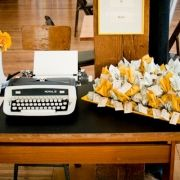 typewriter to leave a message to bride and groom? hey why not!