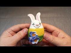 Horgolt húsvéti tojás-nyúl - crocheted easter egg-rabbit - YouTube Easter Crochet, Easter Eggs, Rabbit, Christmas Ornaments, Holiday Decor, Youtube, Tricot, Amigurumi, Rabbits