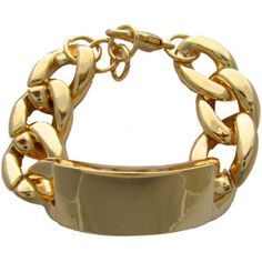 Gold Chain ID Bracelet