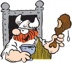 """Hägar the Horrible,"" the red-bearded Viking, from the popular comic strip by… Vintage Cartoon, A Cartoon, Cartoon Characters, Classic Comics, Classic Cartoons, Vikings, Funny Toons, Hagar The Horrible, Newspaper Cartoons"