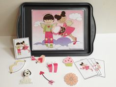 Valentine's Speech Therapy Activities. Printables to teach verbs, prepositions and pronouns suitable for non-readers.